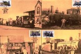 SWA, 1985, Mint Maxi Cards, MI Nr. 22-25, Locomotives - South West Africa (1923-1990)