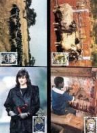 SWA, 1986, Mint Maxi Cards, MI Nr. 38-41, Wool - South West Africa (1923-1990)