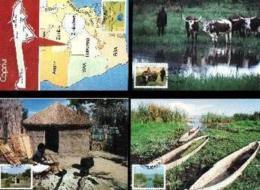 SWA, 1986, Mint Maxi Cards, MI Nr. 42-45, Caprivi - South West Africa (1923-1990)