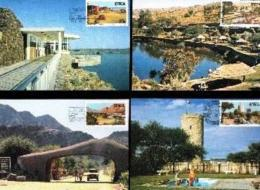 SWA, 1987 Mint Maxi Cards, MI Nr.54-57, Tourism - South West Africa (1923-1990)