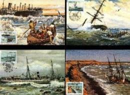 SWA, 1987 Mint Maxi Cards, MI Nr.58-61, Shipwrecks - South West Africa (1923-1990)