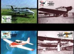 SWA, 1989, Mint Maxi Cards, MI Nr 82-85, Aeroplanes - South West Africa (1923-1990)
