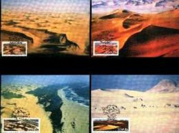 SWA, 1989, Mint Maxi Cards, MI Nr 86-89, Sand Dunes - South West Africa (1923-1990)