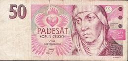 CZECH REPUBLIC  P11 50 KORUN 1994  #B21 FINE Folds NO P.h. ! - Czech Republic