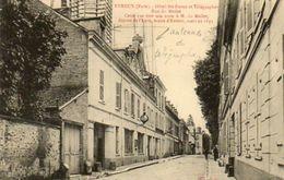 CPA - EVREUX (27) - Aspect De La Rue Du Meilet Et De L'Hôtel Des Postes Au Début Du Siècle - Antennes Du Télégraphe - Evreux