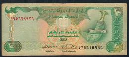 U.A.E. P20a  10 DIRHAMS  1998  FINE 2 P.h. ! - Emirats Arabes Unis