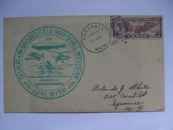 USA 1931 Airport Dedication Cover Brooks Field Marshall Michigan - Etats-Unis