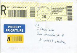 Österreich Austria 2005 Laa An Der Thaya ID:2 Barcoded EMA Postage Paid Registered Cover - Marcofilie - EMA (Print Machine)