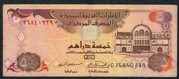 U.A.E. P19a  5 DIRHAMS  2000  FIRST DATE  FINE 1 P.h. ! - Emirats Arabes Unis