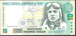 PERU P163  10 N.S.  25.4.1996  VF NO P.h. ! - Pérou