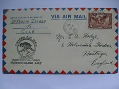 CANADA 1935 First Flight Cover - McKenzie Island To Cole - 1911-1935 George V