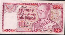 THAILAND  P89e 100 BAHT 1978 #42R Signature 52 F-VF NO P.h. ! - Thaïlande