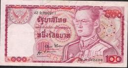 THAILAND  P89e 100 BAHT 1978 #42R Signature 52 F-VF NO P.h. ! - Thailand