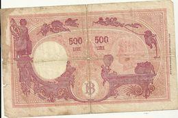 Banca D'italia  500lire  Decreto  Ministeriale   1946-1943  Einaudi  Urbini   Mb- Conservazione - 500 Lire