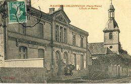 MAZIERES-LES-JOINVILLE (Hte-Marne) -- L'ECOLE  ET  MAIRIE - Francia