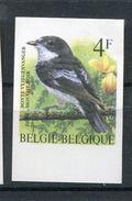 Belgie Buzin Birds ONGETAND Non-dentelé 4fr 2654 Met Velrand Onderaan RRR - 1985-.. Oiseaux (Buzin)