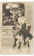 Ak  Künstler 2 Junge Damen Am Fenster ,Soldaten In Uniform,   Karrikatur - Erotik - Autres Illustrateurs