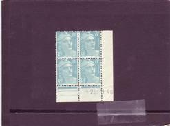 N°810 - 8F Marianne De GANDON - A De A+B - 1° Tirage  Du 21.9 Au 9.10.48 - 29.9.1948 - - Coins Datés