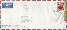 Papua New Guinea PNG 1972 Boroko Taxed Underfranked Cover - Papoea-Nieuw-Guinea