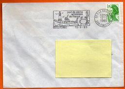 29 S LE GUILVINEC PORT DE PECHE ( Pliure )  1985 Lettre Entière N°  EE 752 - Marcophilie (Lettres)
