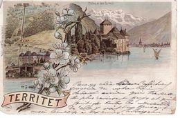 Territet / Château De Chillon / Litho / 1896 - VD Vaud