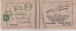 TP 670 (5)-675A S/Liste De Prix Courant D'un Marchand De TP C.BXL 11/2/1949 V.Theux 771 - Bélgica