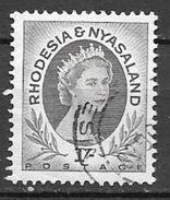 1954 1sh Queen Elizabeth, Used - Rhodesia & Nyasaland (1954-1963)