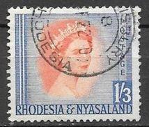 1954 1sh3p Queen Elizabeth, Used - Rhodesia & Nyasaland (1954-1963)