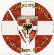 Autocollant 1° Régiment D'Infanterie Picardie - Militaria