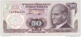 TURKEY 50 TURK LIRASI L.1970 (1981) P-188b UNC SIGN. 29 [TR265c] - Turkey
