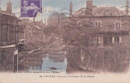 58 NEVERS Coin Pittoresque  Maisons Sur Les Bords De La NIEVRE Timbre 1929 - Nevers