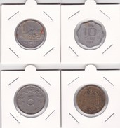 4 Pièces Divers Voir Détail - Réf X10 - Monnaies