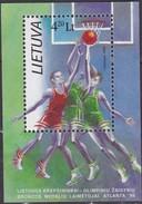 Litauen, 1996, 624 Block 8, Olympische Sommerspiele, Atlanta. MNH ** - Lithuania