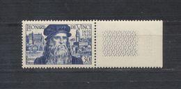 5° Centenaire De La Naissance De Léonard De Vinci (1452 - 1519) - 1952 - Nuovi