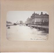 Paris Sous Les Eaux, Gare Du Quai D'Orsay, Crue De 1910 - Photos Format 17 X 12 Avec Encadrement 27 X 21 - Photos