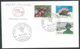 1972 ITALIA FDC CAVALLINO CORPO DEGLI ALPINI NO TIMBRO DI ARRIVO - KI16 - F.D.C.