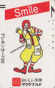 RR TRES RARE Télécarte Ancienne Japon / 110-011 - MCDONALD´S / CLOWN CIRQUE - Japan Front Bar Phonecard Circus - 128 - Japan