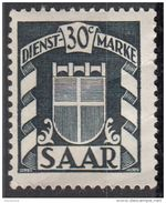 O28 Saar 1949 Official Stamps : Arms Stemma Nuovo Sarre - 1947-56 Occupation Alliée