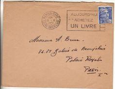 Nantes Gare 1951  - Flamme Achetez Un Livre Sur Gandon - Poststempel (Briefe)