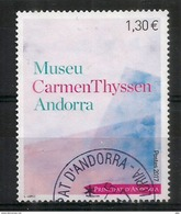 Nouveau Musée Carmen Thyssen En Andorre. Un Timbre Oblitéré, 1 ère Qualité. Année 2017 - Used Stamps