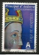 ANDORRE La Vierge De Meritxell, Patronne De L'Andorre, Timbre Oblitéré, 1 ère Qualité - Christianisme