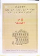 Vannes Carte De La Végétation De La France N° 30 - Vannes