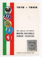 Trento - 1968 - Mostra Nazionale Storico Filatelica - 50° Della Vittoria - Con Annullo Filatelico - (FDC5228) - Trento
