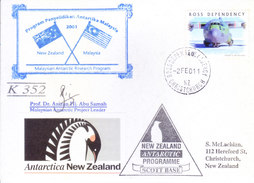 ROSS DEPENDENCY / NEW ZEALAND - 2001 ANTARCTIC EXPEDITION COVER, MALAYASIA-NEW ZEALAND JOINT EXPEDITION, SIGNATURE - Covers & Documents