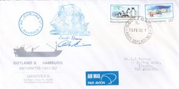 ROSS DEPENDENCY / NEW ZEALAND - 1982 ANTARCTIC EXPEDITION AIR MAIL COVER, SCOTT BASE WITH SIGNATURE - Ross Dependency (New Zealand)