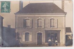 Carte Photo Boulangerie Leroy Probablement Dans La Sarthe - Postales