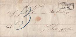 Brief R3 Magdeburg Bahnhof 10.4.1850 (aus Inhalt) - Preussen