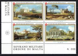 SMOM - 2000 - ANTICHE VEDUTE DI ROMA - NUOVI MNH - Sovrano Militare Ordine Di Malta