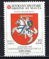 SMOM - 2000 - CONVENZIONE POSTALE CON LA LITUANIA - NUOVO MNH - Sovrano Militare Ordine Di Malta