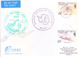 BRITISH ANTARCTIC TERRITORY - EXPEDITION COVER, 1992 - SIGNY ISLAND SPECIAL CANCELLATIONS, DIHO, NETHERLAND MARKING - British Antarctic Territory  (BAT)